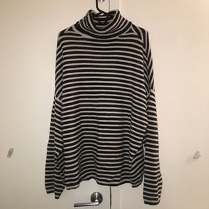 All Saints Striped Turtle Neck Sweater